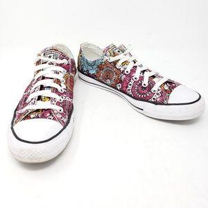Converse All Star Lo Mandala Boho Sneakers Size 9